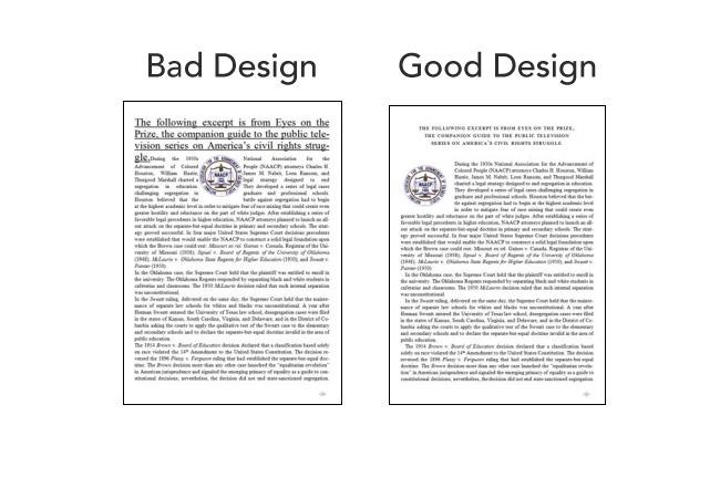 Boa e má tipografia